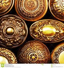 Brass Door Handles Vintage Ornate Brass Door Handles Royalty Free Stock Images