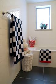 Black And White Checkered Tile Bathroom Black And White Tile Bathroom Floor Bathroom Contemporary With