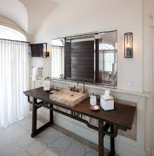 Beachy Bathroom Mirrors by Acrylic Vanity Table Bathroom Mediterranean With Bathroom Mirror