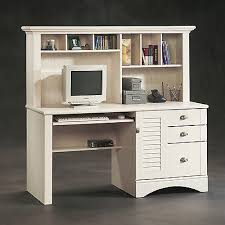 large computer desk with hutch wood office work station solid with