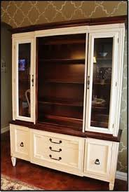 vintage 1940 u0027s china cabinet hand painted pick up only hutch