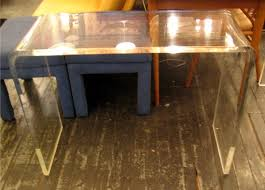 Lucite Console Table Low Lucite Console Table Sold White Trash Nyc