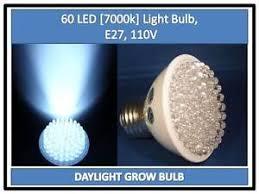 daylight grow bright white 7000k 60 led light bulb 110v e27 usa