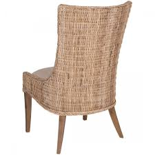 Wicker Kitchen Chairs Orient Express New Wicker Greco Dining Chair In Grey Kubu Set Of 2