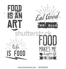 themed quotes food related quotes vintage retro style stock vector 384662815