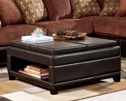 Leather Coffee Table Storage Storage Square Coffee Table Photogiraffe Me