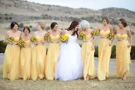 yellow and silver bridesmaid dresses 2017 unique design a line