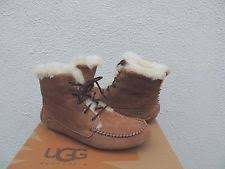 womens ugg moccasin boots ugg australia suede medium b m lace up boots for ebay