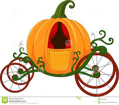 cinderella pumpkin carriage pumpkin carriage stock vector image 55849652