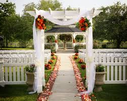 Wedding Ceremony Decorations Garden Gazebo Wedding Ceremony Aisle Tulle Flowers Fabric