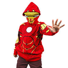 ironman halloween costume childrens iron man costume hoodie red
