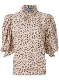 print blouse prada floral print blouse 1 032 shop ss18 fast