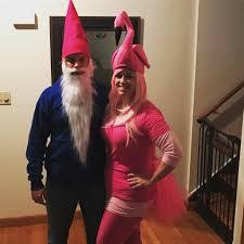 lawn ornaments couples costume flamingo and gnome