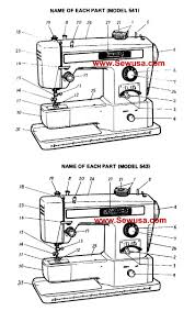 necchi model 541 543 sewing machine instruction manual