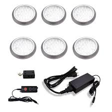 120v under cabinet lighting macleds led under cabinet low profile puck light kit 6 pack pop