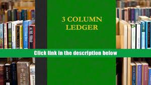 download pdf 3 column ledger 100 pages ij publishing llc full