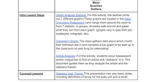 6th grade statistics unit google docs