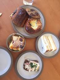 all the goodies the tres leches cake chocolate croissant egg