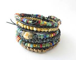 bangle beaded bracelet images Beaded bracelets etsy nz jpg