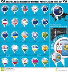 Antarctic Flag Antarctic Russia America Territories Pointer Flag Stock