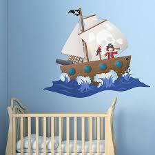 children s pirate ship wall sticker by oakdene designs children s pirate ship wall sticker