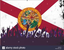 Floridas State Flag Florida State Flag With Audience Stock Vector Art U0026 Illustration