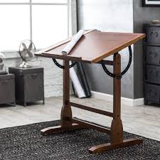 Split Level Drafting Table Studio Designs Drafting Table Rustic Oak Walmart