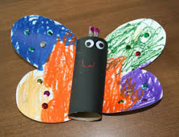 Butterfly Crafts For Kids To Make - toilet paper roll butterfly craft all kids network