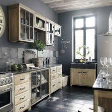 meuble haut vitré cuisine meuble haut vitré de cuisine ouverture droite en bois recyclé l 60