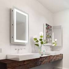 Mirrored Cabinets Bathroom Bathroom Mirror Cabinets Illuminated Lighted Medicine Cabinet