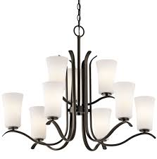 kichler track lighting kichler 43075ozl16 armida contemporary olde bronze led hanging