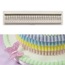 online shop silicone ruffle chocolate cake mold skirt fringe
