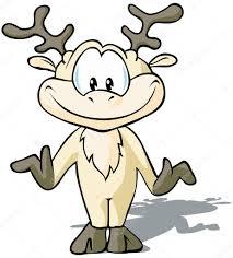 cute reindeer cartoon u2014 stock vector hanaschwarz 13398138