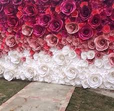 wedding backdrop flowers wedding backdrop large paper flowers paper flower backdrop