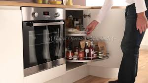 half carousel kitchen storage accessory youtube