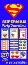 printable superman birthday banner for a super hero birthday party
