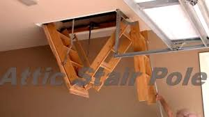 attic stair pole youtube
