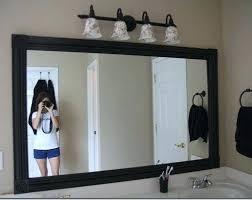 bathroom mirror trim ideas mirror molding bathroom mirror framed with crown molding bathroom