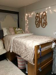 Pink And Gold Bedroom by Cute And Posh Dorm Room At Indiana University Hanging Gold