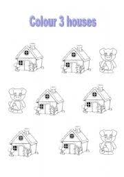 english worksheets 3 pigs