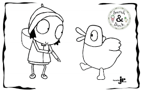 coloring download sarah and duck coloring pages sarah and duck