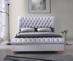 king size sofa bed uk time living richmond white faux leather bed frame bedsdirectuk net