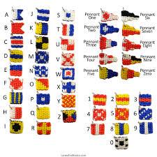 Nautical Code Flags Naval Signal Flag Zipper Pull Charm Macrame Marine Flag Key