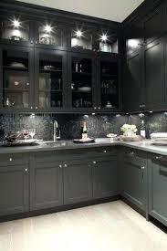 White Kitchen Cabinets White Appliances Dark Grey Shaker Kitchen Cabinets With White Appliances
