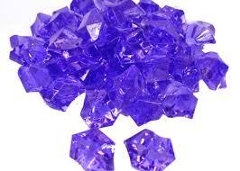 Vase Rocks Ice Crystal Rocks Vase Filler 23 X 18mm Purple 1 Lb Bag