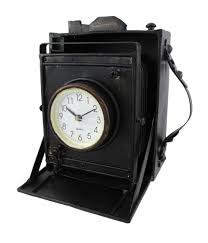 amazon com reproduction metal vintage camera with bellows clock
