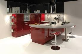 amazing kitchen set in modern design with dining table set and bar