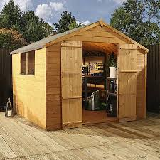 8 x 8 tongue groove apex wooden garden shed waltons sheds
