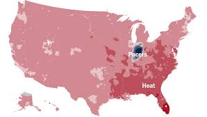 Atlanta Map Usa by Which Team Do You Cheer For An N B A Fan Map The New York Times