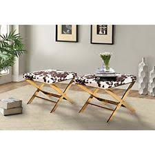 chrome ottomans footstools and poufs ebay